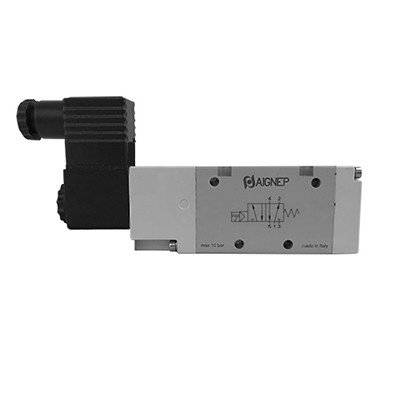 Single Solenoid External Pilot - 5/2 - Standard Connector - NPTF