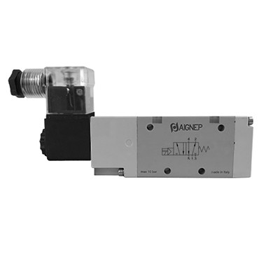 Single Solenoid External Pilot - 5/2 - LED Connector - BSPP