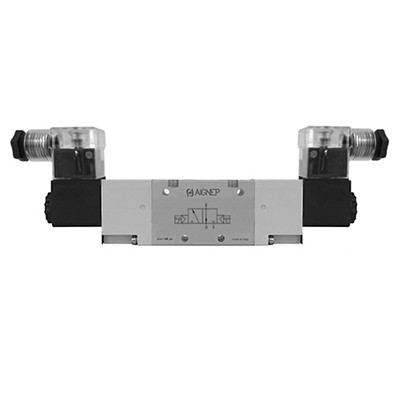 Double Solenoid External Pilot - 3/2 - LED Connector - NPTF