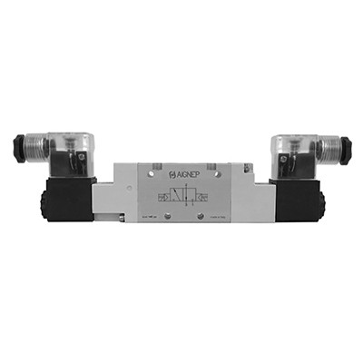 Double Solenoid Pilot - 3/2 - LED Connector - BSPP
