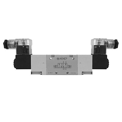 Double Solenoid External Pilot - 5/2 - LED Connector - NPTF