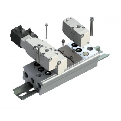 DIN Rail Mounted - Manifold Bases - NPT