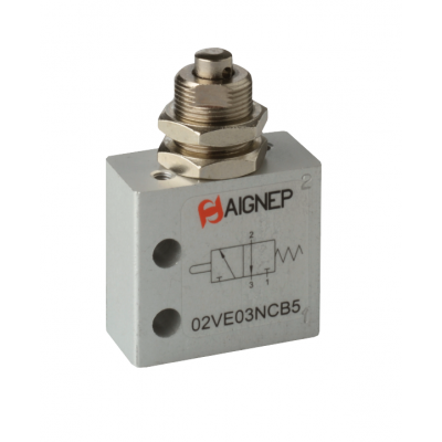 Panel Mounted Tappet Valve - 3/2